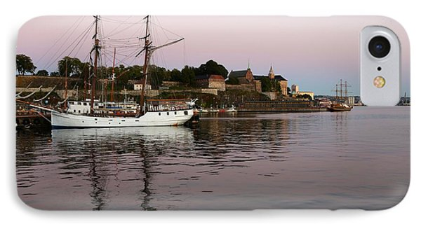 Oslo Harbor At Sunset IPhone Case by Carol Groenen