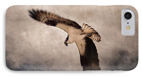 Osprey Over The Columbia River Phone Case by Carol Leigh
