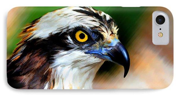 Osprey Portrait IPhone Case by Dan Friend