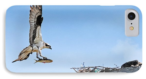 Osprey With Fish IPhone Case by Bonnie Fink