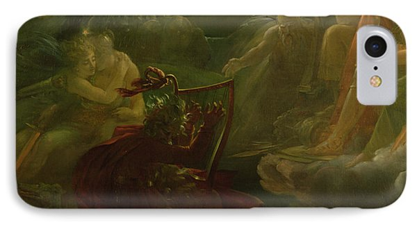 Ossian Conjuring Up The Spirits  IPhone Case by Francois Pascal Simon Gerard