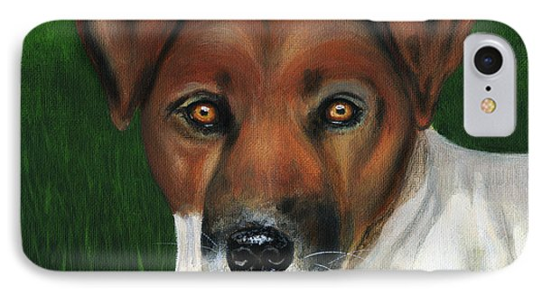 Otis Jack Russell Terrier Phone Case by Michelle Wrighton