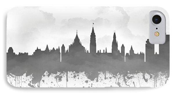 Ottawa Ontario Skyline - Gray 03 IPhone Case