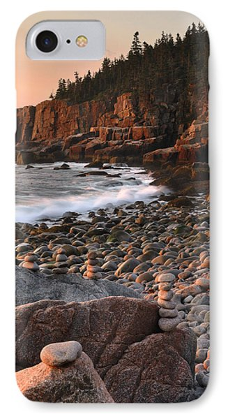 Otter Cliffs Morning IPhone Case by Stephen  Vecchiotti