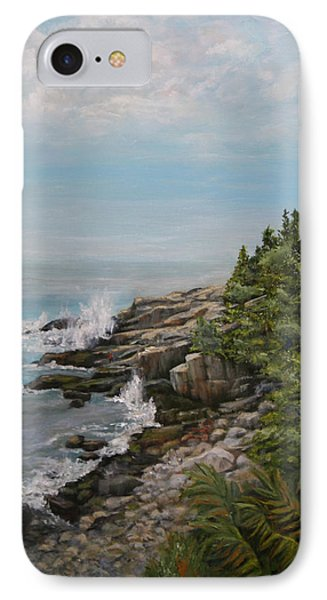 IPhone Case featuring the painting Otter Point - New England by Sandra Nardone