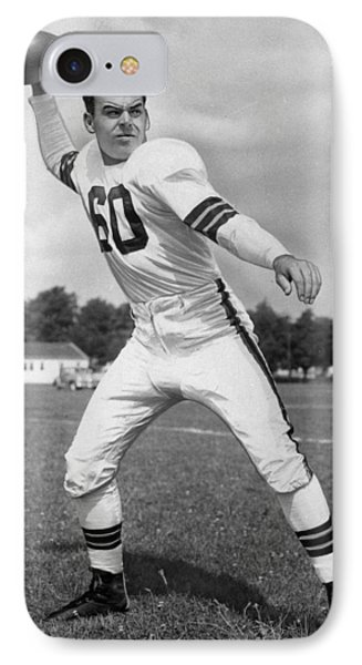 Otto Graham Nfl Legend Poster IPhone Case by Gianfranco Weiss