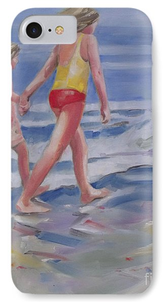 Our Beach Walk IPhone Case by Mary Hubley