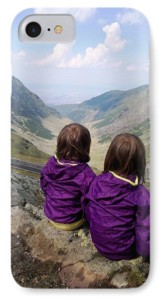 Our Daughters Admiring The View IPhone Case by Giuseppe Epifani