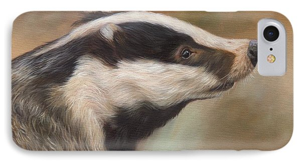 Our Friend The Badger IPhone Case by David Stribbling