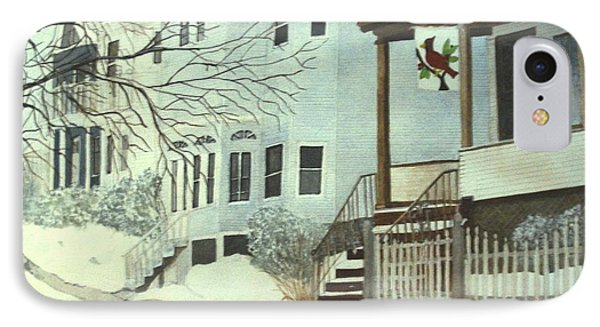 IPhone Case featuring the painting Our House In Medford by June Holwell