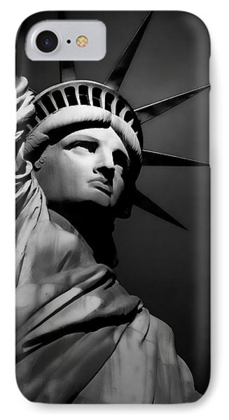 Our Lady Liberty In B/w IPhone Case