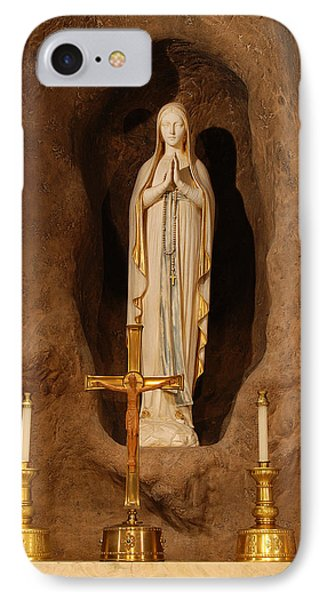 Our Lady Of Lourdes Phone Case by Philip Ralley