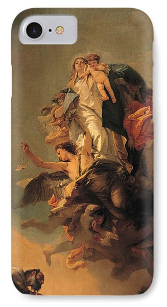 Our Lady Of Mount Carmel  IPhone Case by Tiepolo Giambattista