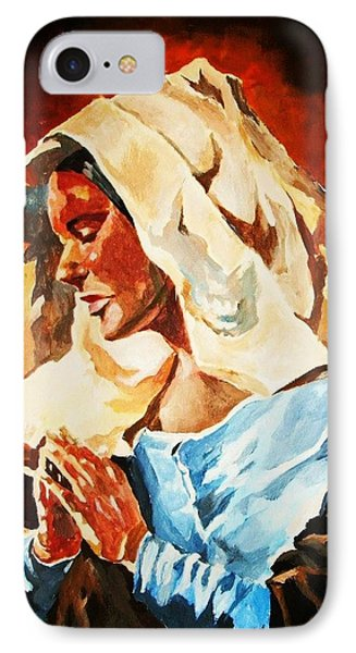 IPhone Case featuring the painting Our Lady Of Peace by Al Brown