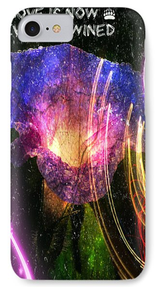 Our Love Is Now Forever Entwined IPhone Case by Absinthe Art By Michelle LeAnn Scott