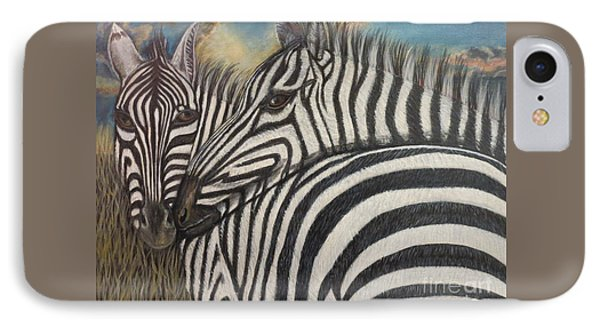 Our Stripes May Be Different But Our Hearts Beat As One IPhone Case by Kimberlee Baxter