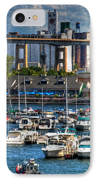 Out At The Harbor V3 IPhone Case by Michael Frank Jr