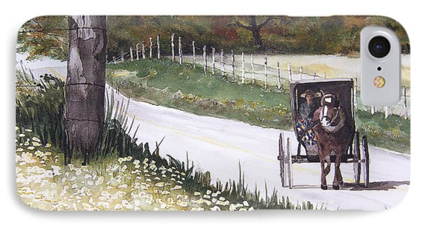 IPhone Case featuring the painting Out For A Ride by Susan Crossman Buscho