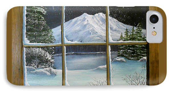 Out My Window-bright Winter's Night IPhone Case by Sheri Keith