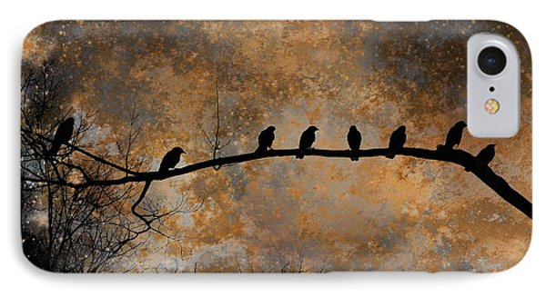 Eight Crows Out On A Limb IPhone Case by Gothicrow Images