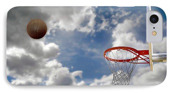 Outdoor Basketball Shot Phone Case by Lane Erickson