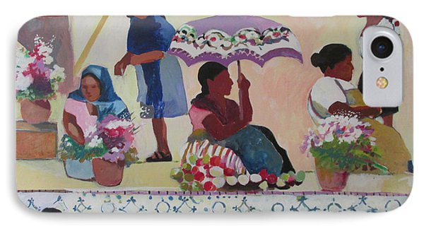 Outdoor Market San Miguel Allende IPhone Case by Linda Novick