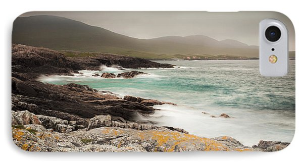 Outer Hebrides Waves Phone Case by Ray Devlin
