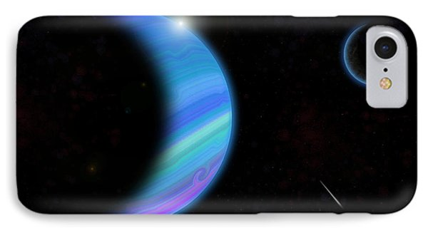 Outer Space Dance Digital Painting IPhone Case by Georgeta Blanaru