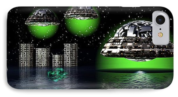 IPhone Case featuring the digital art Outer Space by Jacqueline Lloyd