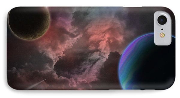 Outer Space Mystery Digital Painting Phone Case by Georgeta Blanaru