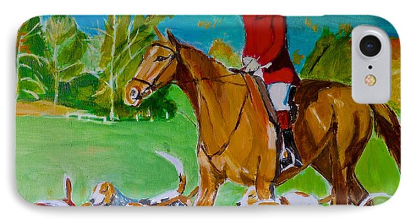 IPhone Case featuring the painting Outfoxed by Judy Kay