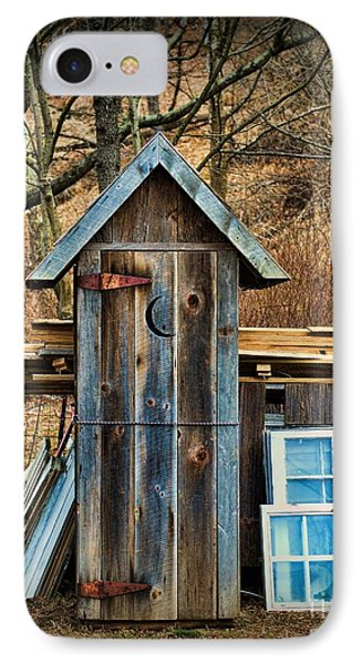 Outhouse - 5 IPhone Case by Paul Ward