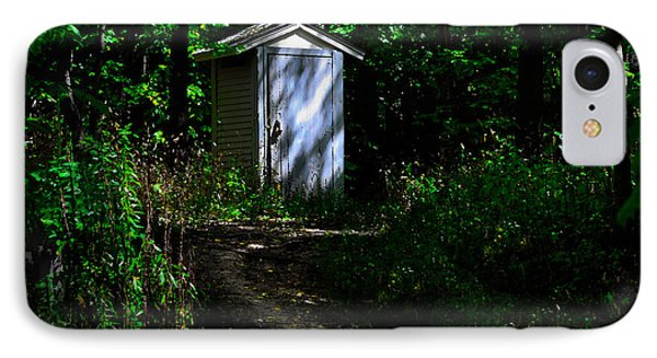 IPhone Case featuring the photograph Outhouse In Early Morning by Kathleen Stephens