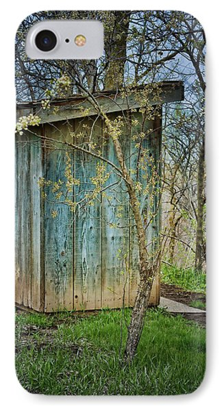 Outhouse In Spring IPhone Case by Nikolyn McDonald