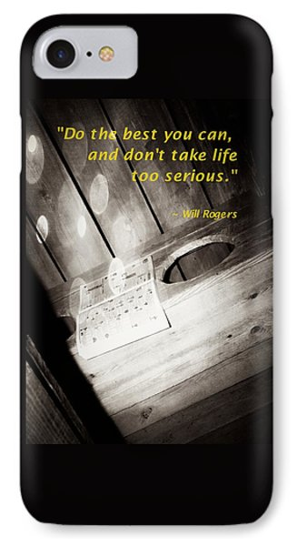 Outhouse Inspiration Will Rogers 2 IPhone Case