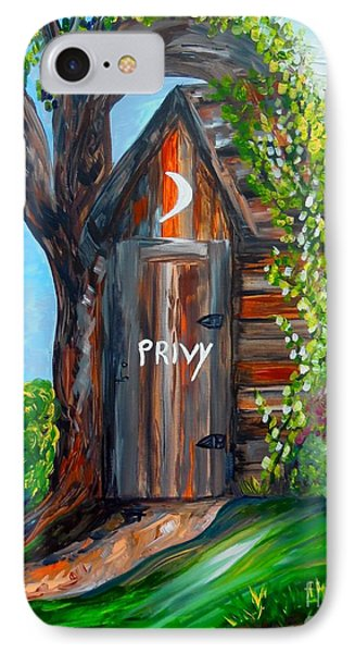 Outhouse - Privy - The Old Out House Phone Case by Eloise Schneider