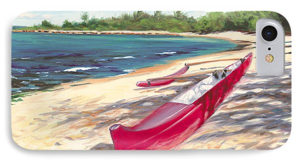 Outrigger - Haleiwa Phone Case by Steve Simon
