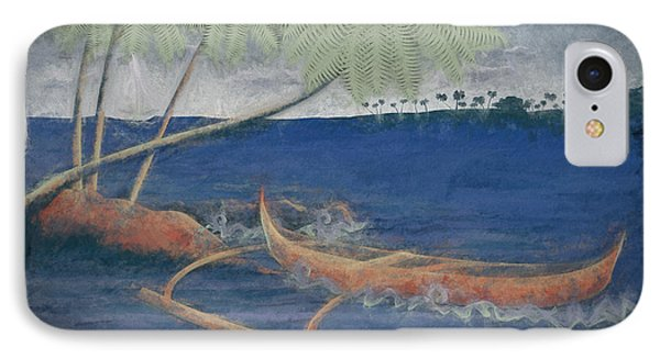 Outrigger In Storm IPhone Case by Andrea Ribeiro