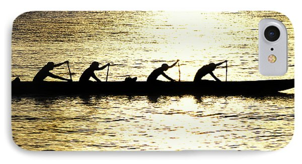 Outrigger Silhouettes IPhone Case by Sean Davey