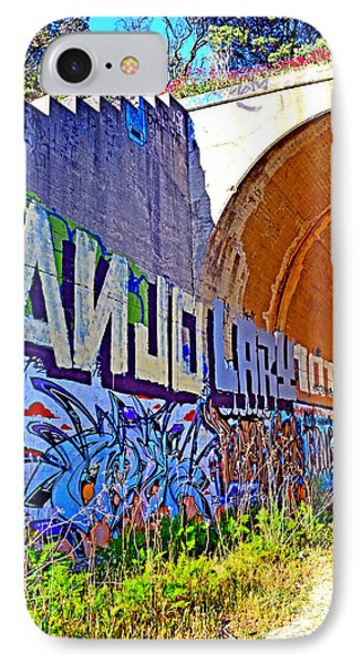 Outside The Abandoned Train Tunnel South Of The Old Train Roundhouse At Bayshore Near San Francisco  Phone Case by Jim Fitzpatrick