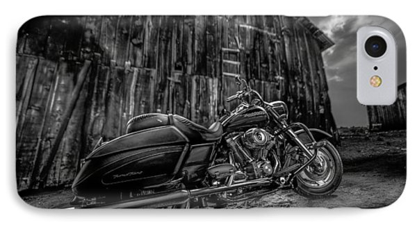 Outside The Barn Bw IPhone Case