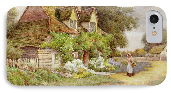 Outside The Cottage  IPhone Case by Ethel Hughes