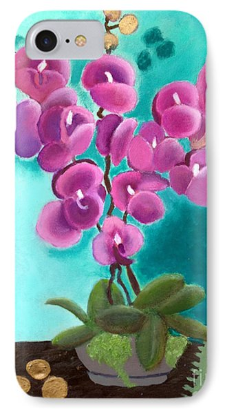 Outstanding Orchids IPhone Case by Margaret Harmon