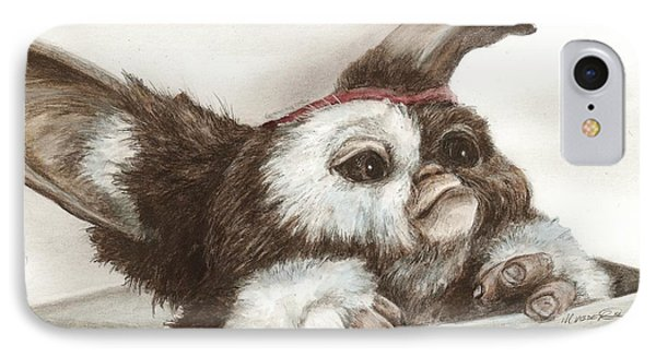 IPhone Case featuring the drawing Outta The Box - Gizmo  by Meagan  Visser