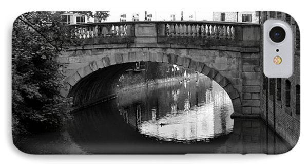IPhone Case featuring the photograph Oval Bridge Over The River Foss York by Scott Lyons
