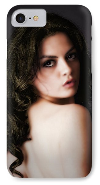 IPhone Case featuring the photograph Over Her Shoulder  ... by Chuck Caramella