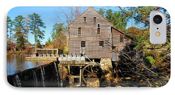 IPhone Case featuring the photograph Over The Dam At Yates Mill by Bob Sample