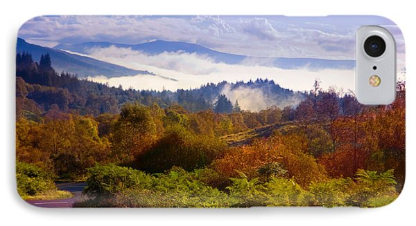 Over The Fog. Trossachs National Park. Scotland Phone Case by Jenny Rainbow