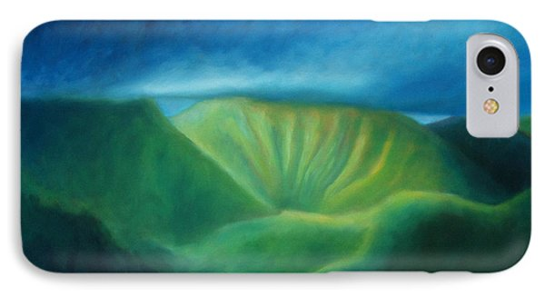 Over The Pali IPhone Case by Angela Treat Lyon