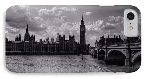 Over Westminster Bridge IPhone Case by Nicky Jameson